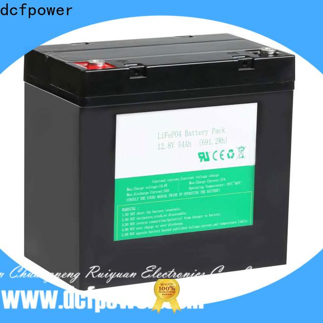 dcfpower Custom li fe phosphate battery Supply for caravan/campers