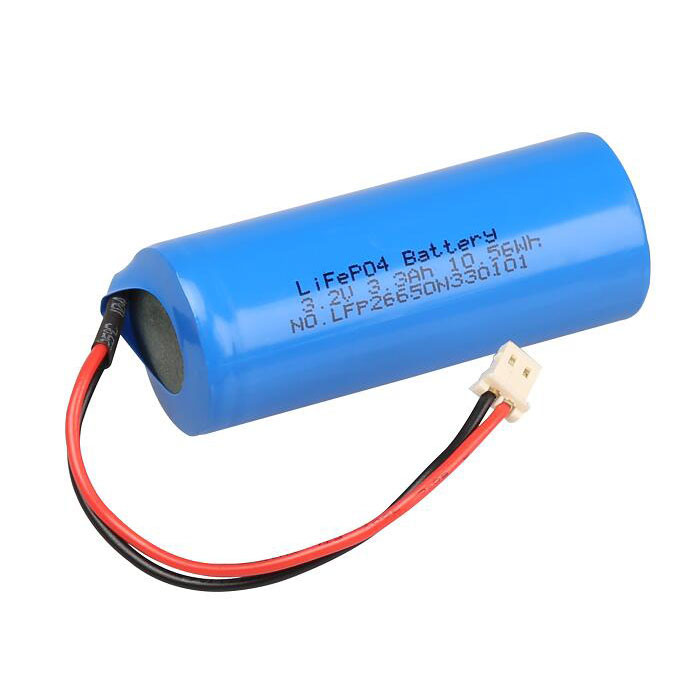 1S1P LFP 26650 LiFePo4 Rechargeable cylindrical lithium ion battery pack