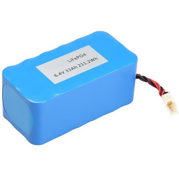 6.4V 33Ah 26650 LiFePO4 Rechargeable battery pack for Solar street light